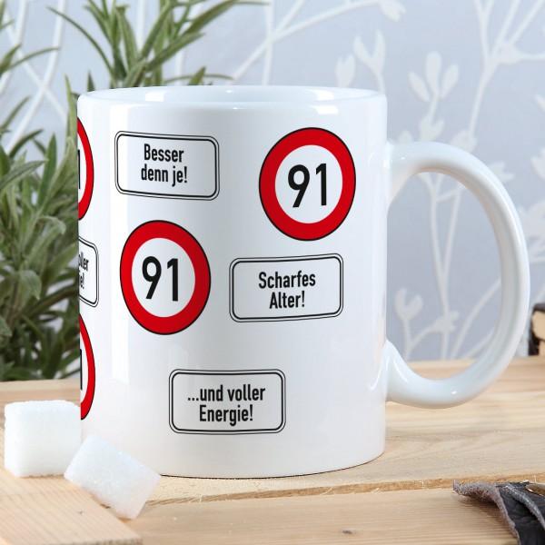 Kaffeetasse zum 91. Geburtstag
