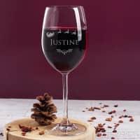Weihnachtliches Weinglas mit Ihrem Namen eingraviert