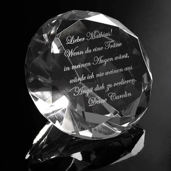 transparenter Diamant