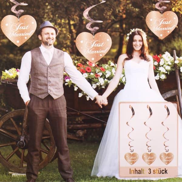 Party Deko Spiralen Just Married