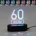 Acryllampe zum 60. Geburtstag mit Name