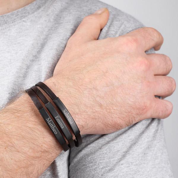 Graviertes Männerarmband