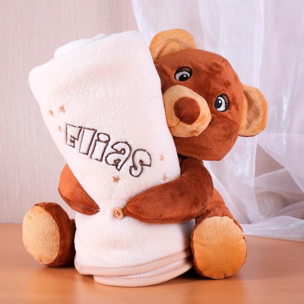 Set Kuscheltier Bär mit Babydecke