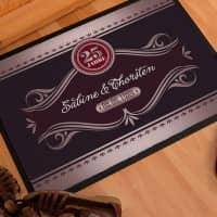 Persönliche Fußmatte zur Silbernen Hochzeit