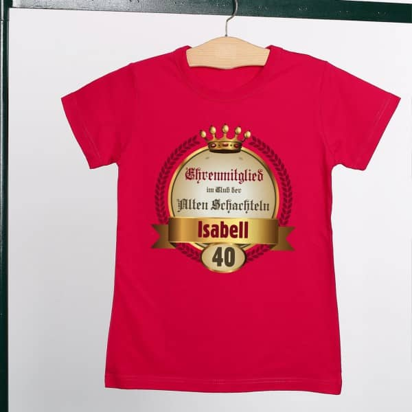 Geburtstags T Shirt für alte Schachteln