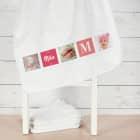 Foto-Handtuch mit Name und Initiale für Mädchen