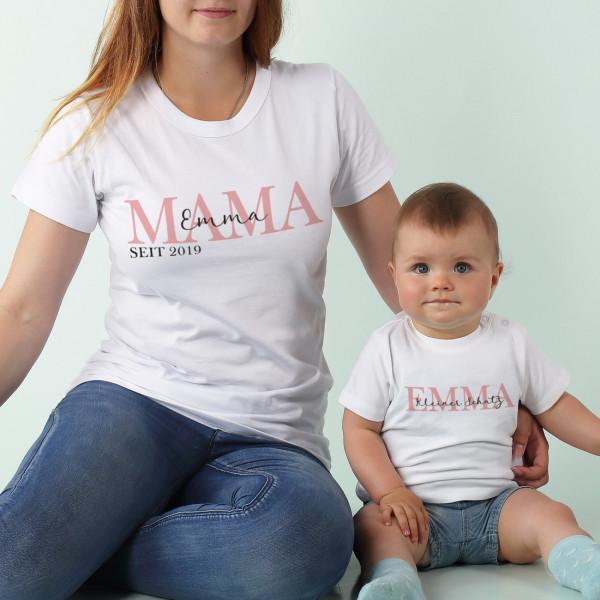 Partnershirts Mama und Kind zum Muttertag - Mama seit