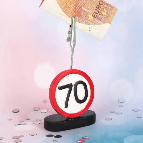 Geldclip zum 70. Geburtstag
