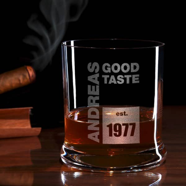 Good Taste Whiskyglas mit Gravur