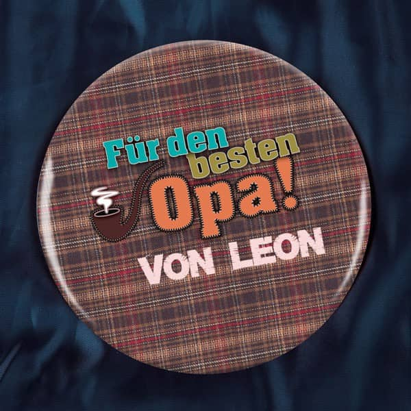Button für den besten Opa
