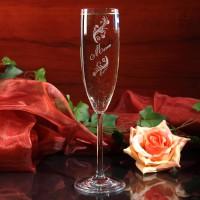 graviertes Sektglas Limited mit Wunschname