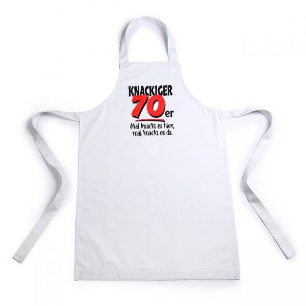 weiße Schürze für Männer zum 70. Geburtstag