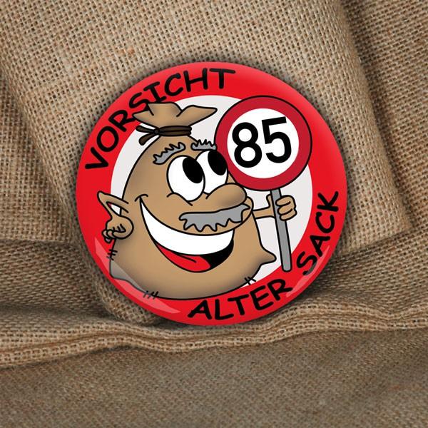 XXL Button zum 85. Geburtstag