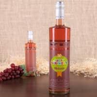 Pinot Noir Weinflasche zum Geburtstag mit Name und Alter