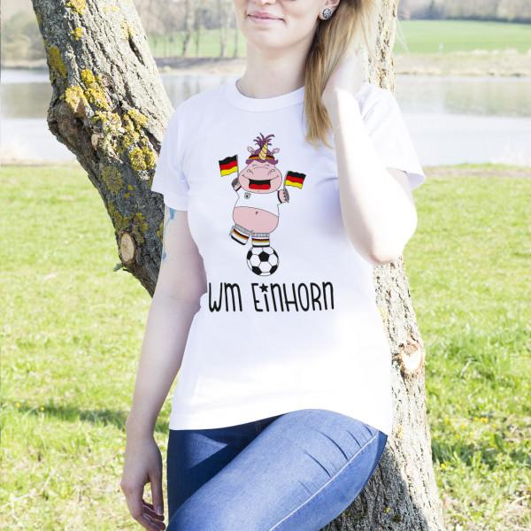 Damenshirt mit Knuddelhorn zur Fußball-WM