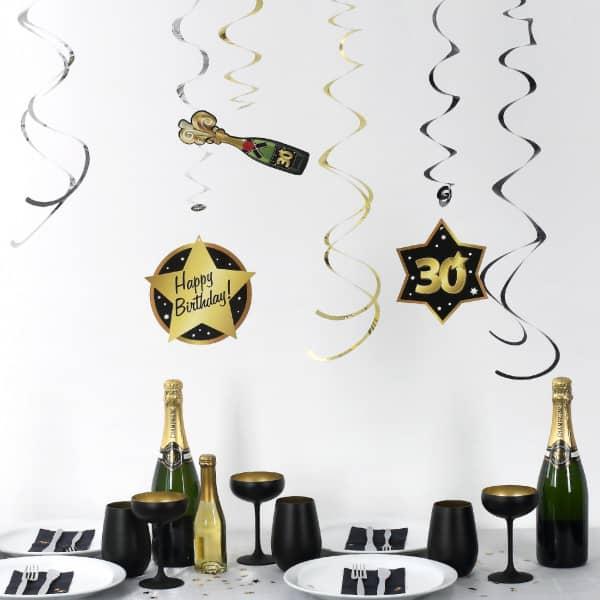 Party Dekoration Star zum 30. Geburtstag