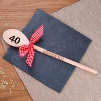 Holzlöffel zum 40. Geburtstag mit Gravur