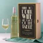 Weinset im Jugendstil mit Bree Weinflasche und graviertem Weinglas