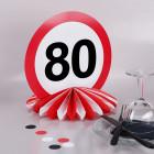 Tischdeko zum 80. Geburtstag - Wabenaufsteller