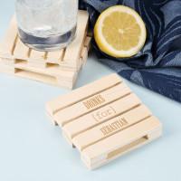 Drinks for ... - Personalisierter Getränkeuntersetzer aus Holz