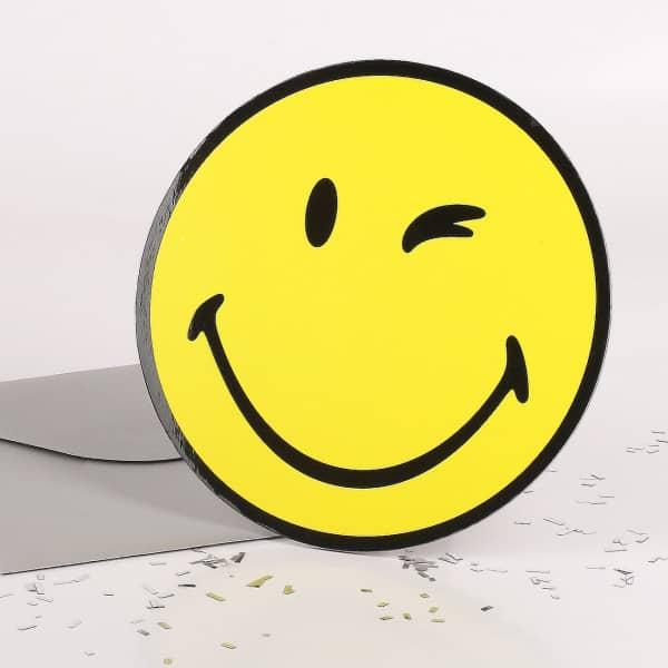Stand-Up-Glückwunschkarte Smiley
