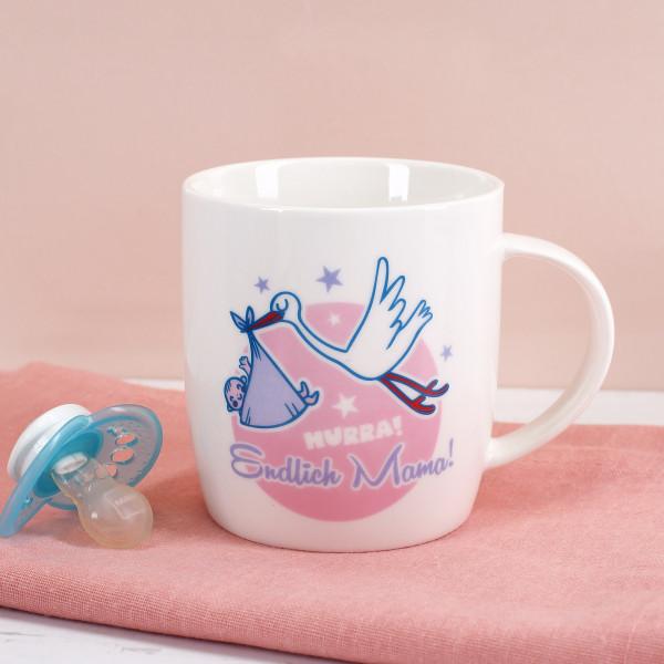 Geschenk zur Geburt - Endlich Mama Tasse