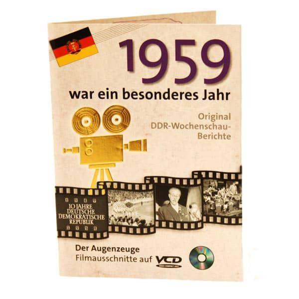Geburtstagskarte mit historischen Ausschnitten 1949