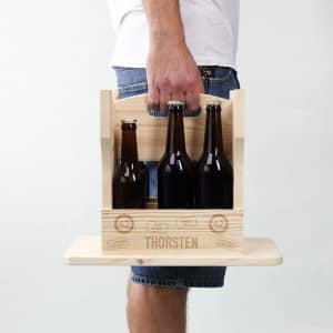 Bierträger und Hocker in einem