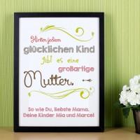 Bilderrahmen für Mütter mit persönlichem Gruß