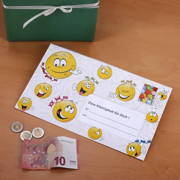Umschlag für Geldgeschenke ´´Smile´´