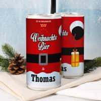 1 Liter Weihnachtsbier mit Wunschname - die vollmundige Geschenkidee