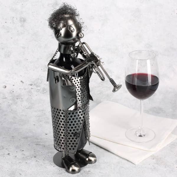 Trompete Spieler als Metall - Flaschenhalter