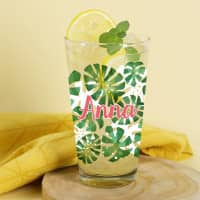 Tropical-Trinkglas mit Wunschname