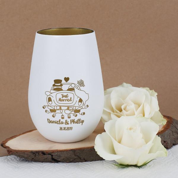 - Windlich mit Hochzeitsauto, Wunschnamen und Datum graviert - Onlineshop Geschenke online.de