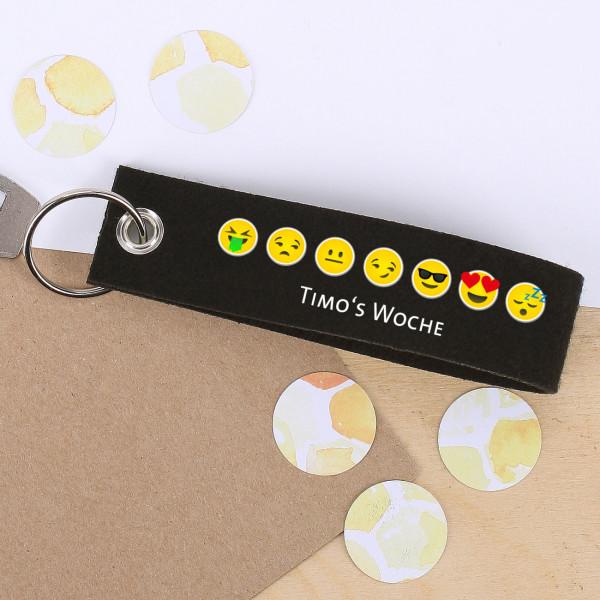 Ausgefallenkleineaufmerksamkeiten - Emoji Schlüsselanhänger mit Wunschtext - Onlineshop Geschenke online.de