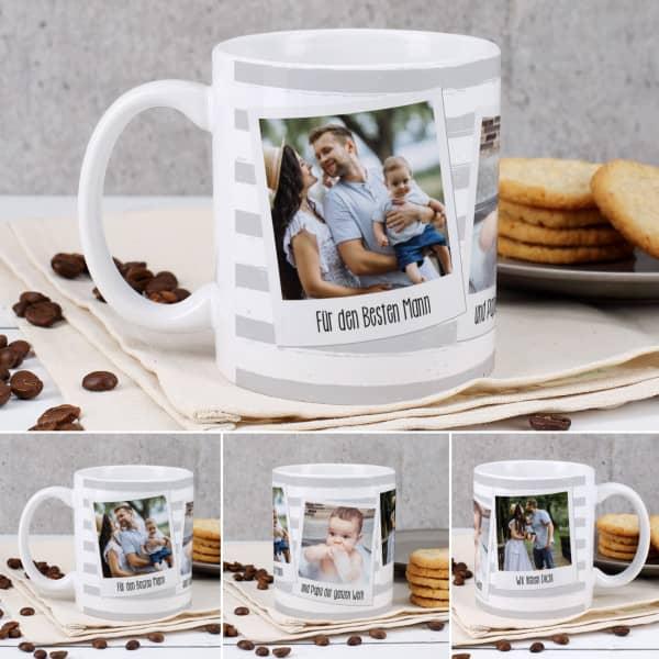 Tasse mit 3 Bildern