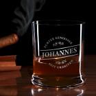 graviertes Whiskeyglas Echter Geniesser mit Name von Leonardo