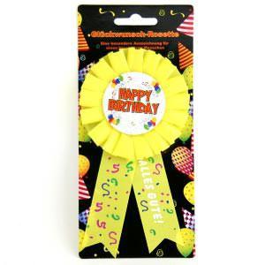 Glückwunsch-Rosette - Happy Birthday