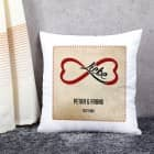 persönliches Kissen - unendliche Liebe - mit Namen und Datum