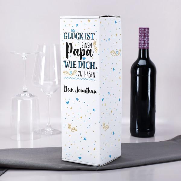 Geschenkverpackung für Flaschen - Glück ist einen Papa wie dich zu haben