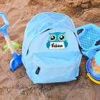 Kindergartenrucksack mit süßer Eule und Ihrem Wunschnamen