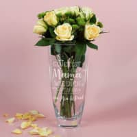 Glück ist, eine Mama wie dich zu haben - große Vase mit Ihrem Wunschtext graviert