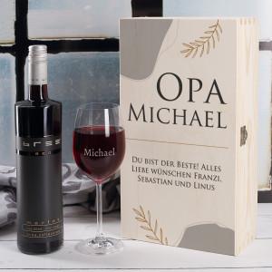 Wein Geschenkset für Opa