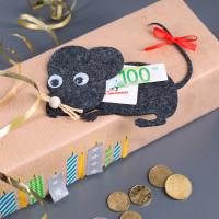 Geldgeschenk Filz-Maus