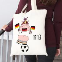 Jutebeutel zur Fußball-WM mit Knuddelhorn