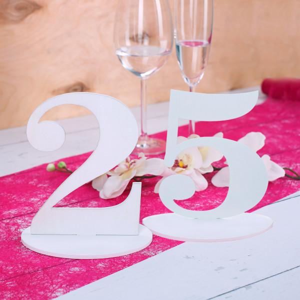 Tischnummer 25 für Geburtstag oder Silberne Hochzeit