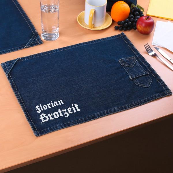 Personalisiertes Platzdeckchen mit Wunschnamen - Brotzeit