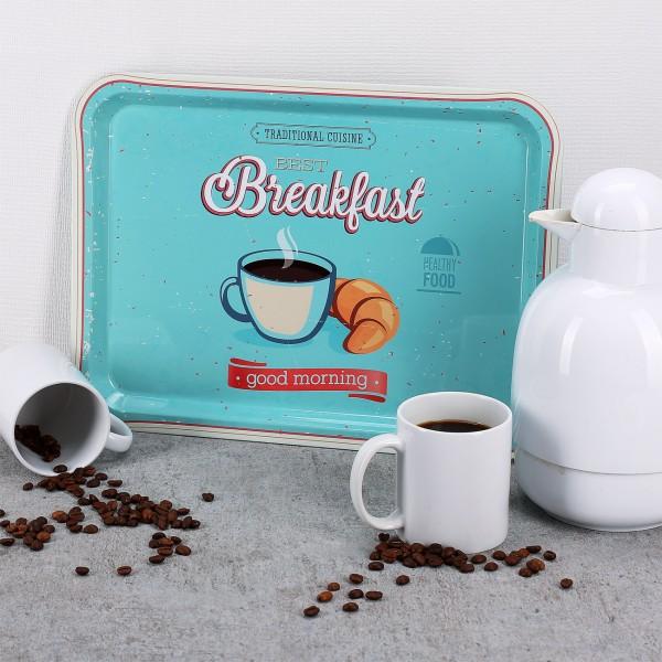 Frühstück-Tablett mit Retromotiv