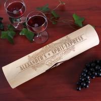 Flaschenverpackung Holzrolle - Sprit-Express für Wein
