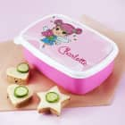 Brotdose mit rosa Tulpenfee und Name